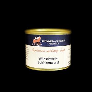 Wildschwein Schinkenwurst in der Dose 200g