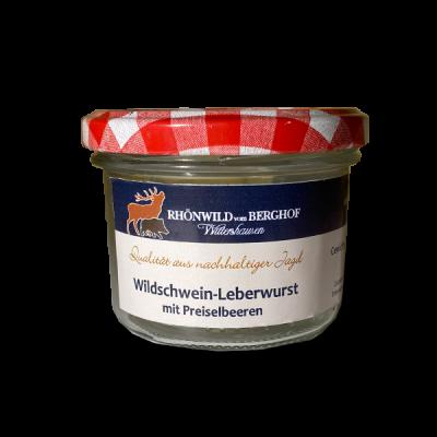 Wildschwein-Leberwurst mit Preiselbeeren im Glas 200g